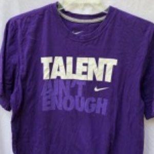 Men's Nike Purple Tee Talent Ain't Enough Reg. Fit